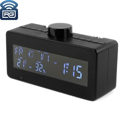 SC600W 1080P WiFi IP Digital Clock Hidden Camera w/ Rotatable Lens